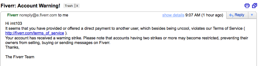 why i quit fiverr after less than 72 hours