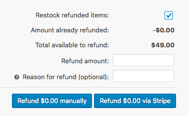 restock refunded items