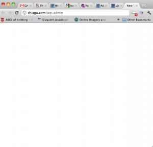 wordpress site blank page